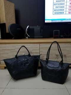 2 pcs Longchamp LM Black