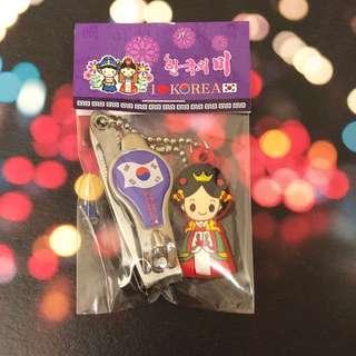 韓國 可愛公仔 指甲鉗 紫色 連公主吊飾 Korean Nail Clipper - princess style (purple)