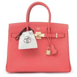 Hermes Brand new b30 epsom rose jaipur with receipt
