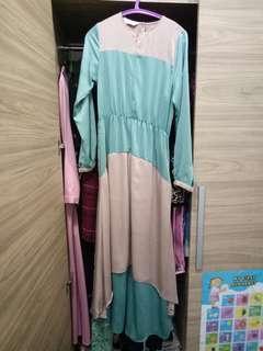 Dress lembut bahan semi silk