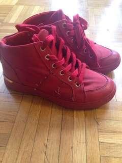 Cute Red ladies sneakers size 7