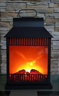 Metal Fireplace Lantern