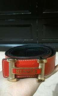 HERMES BLACK/RED BELT