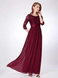Ever Pretty 酒紅色長裙8號碼 Burgundy dress US Size 8