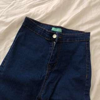 dark blue highwaisted jeggings