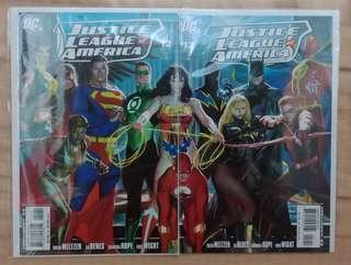 Justice League of America #12 Comics with Connecting Covers Alex Ross Iconic Art