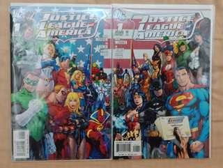 Justice League of America #1A & B Comics with connecting covers Ed Benes art