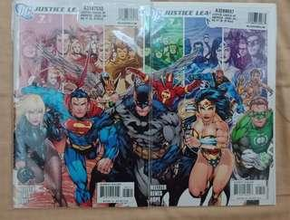 Justice League #7A & B Comics connecting covers iconic Ed Benes art