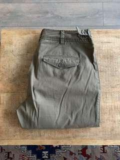 Club Monaco khaki / green pants / size 00