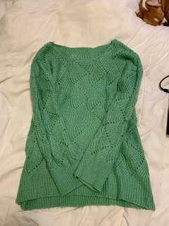 Sea foam green knitted sweater- Size M