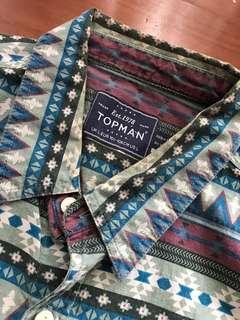 Kemeja Tribal Navajo Topman Shirt