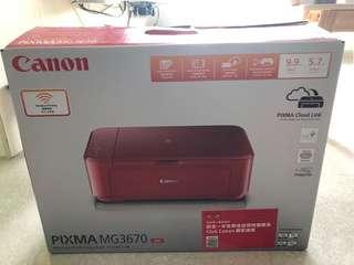 Canon Pixma MG3670 打印機printer