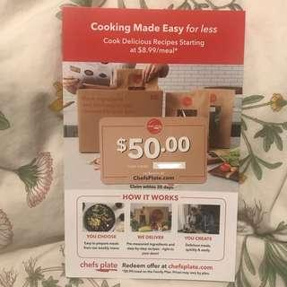 $50 Off Chefs Plate Meal Plan