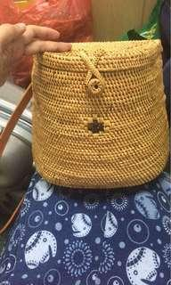 Authentic Bali Rattan Backpack