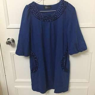 top royal blue cotton