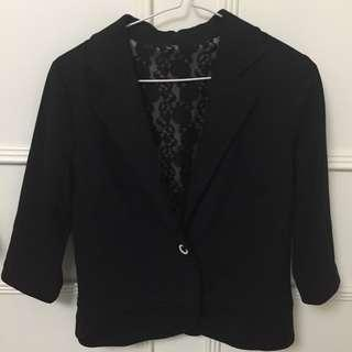 coat cotton black lace inside