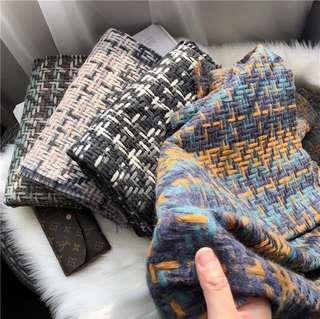 🚚 混色編織圍巾