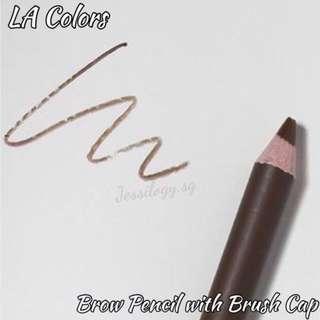 INSTOCK LA Colors Brow Pencil With Brush Cap in MEDIUM BROWN/ L.A. Colors Brow With Brush in MEDIUM BROWN