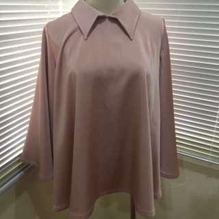 FITRI ZAINAL X YDAY2DAY2MROW SATIN COLLARED TOP