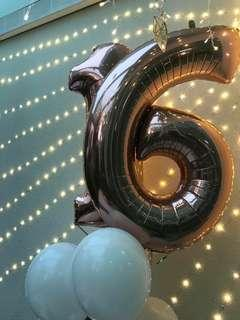Helium gas balloon Number #16