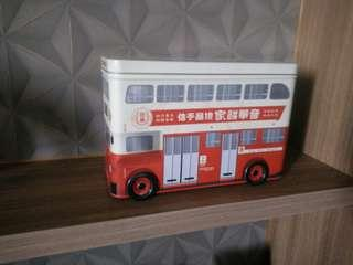 Hong Kong Kee Wah Bakery Vintage Double Deck Bus Gift Box (box only)