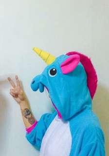 Blue Unicorn Adult Onesie