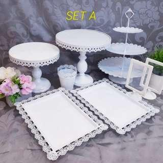 Dessert Table stand, cake tray, cupcake stand for rent