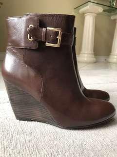 Nine West wedge booties