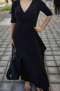 Black Evening Formal Dress Gown Large