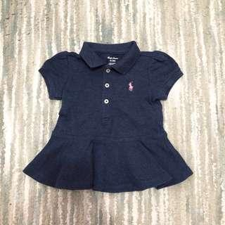 Ralph Lauren Polo Blouse (Navy Blue, 6M
