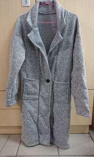 🚚 氣質刷毛長版外套(只穿過一次)