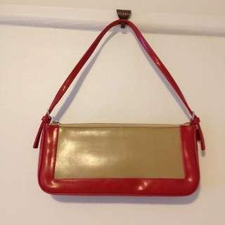 Red and Brown Handbag