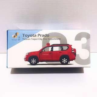 全新未拆 Tiny 微影 台灣 #03 豐田 Toyota  Prado 消防 警備車