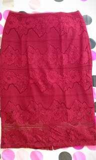 The Executive brokat skirt