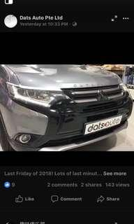 Last Friday of 2018! Lots of last minute mod to welcome the new year!  Another simple yet very nice upgrade done on a Mitsubishi Outlander!  Have yours done now!  Booking/enquiries call or whatsapp 8270 0007  #quality #datsauto
