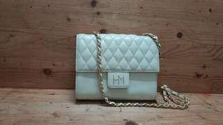 Authentic Hanea Mori quilted Sling Bag