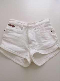 Denim White Short Pant