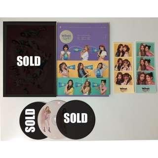 Twice What is Love? album, cd, sticker, photocard