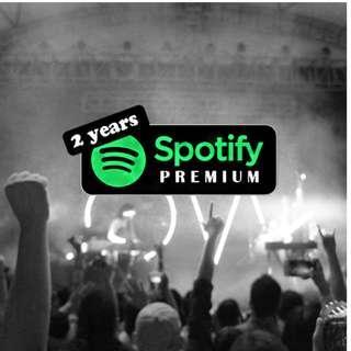 2 years Spotify Premium with Warranty