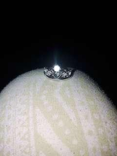 Crown ring adjustable 92.5 sterling silvee
