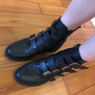 🚚 Steve Madden多釦環卯釘靴子/短靴/8號=24.5-25cm/九成新