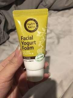 Facial yogurt foam