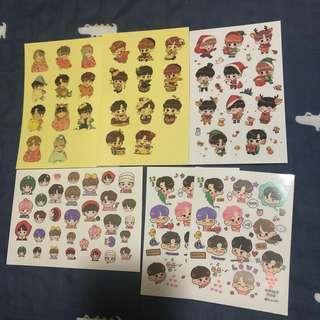 Wanna One sticker Set