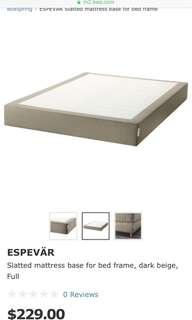 Ikea Queen Bed Base + Queen Mattress