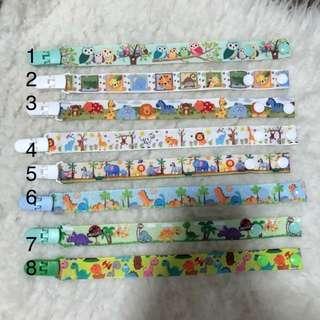 Pacifier Clip handmade, children baby items animals series boys and girls designs owl elephant safari dino etc
