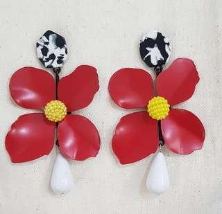 Big Flower Drop Earrings