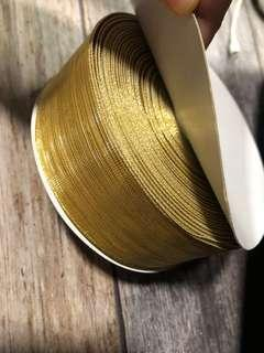 🚚 Gold wired ribbon