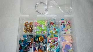 Assorted Beads and craft item.