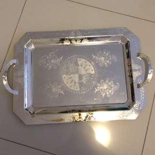 Beautiful unique patterned silver tray