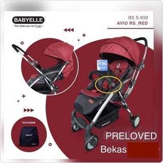 PRELOVED - Stroller Babyelle Avio RS RED